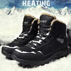 Mens Warm Snow Boots Winter High Top Plus Velvet Lined Outdoor Work Hiking Shoes