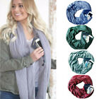 Unisex Convertible Journey Infinity Scarf with Zipper Soft Pocket Theftproof Ski