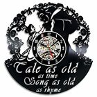 """Beauty and the Best Creative Vinyl Wall Clock """"Tale as Old as Time"""""""