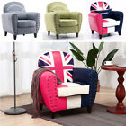 Modern Accent Chair Arm Linen / Leather Living Room Bedroom Tub Chair Wood Legs