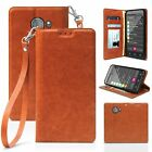 For Greatcall Jitterbug Smart2 Folio Flip Wallet Card Case Soft Napa Leather