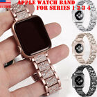 Stainless Steel Strap iWatch Bracelet Band Diamond For Apple Watch 38/42mm 3 2 1 image