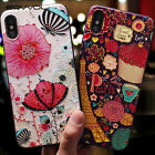3D Embossed Cute Cartoon Patterned Silicone Case Cover iPhone XS Max XR X 8 7 6