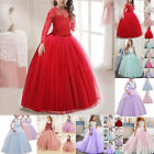 Flower Girl Dresses Princess Party Wedding Bridesmaid Kid Formal Long Prom Dress