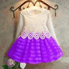 Toddler Kids Baby Girl Lace Dress Party 3T-7 Size Party Prom Bridesmaid Dresses