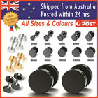 Men's Unisex Earing Stud Plugs Stainless Steel Ear Studs Piercing Jewellery