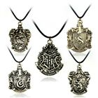 Harry Potter Antique Bronze Magic Academy School Badge Pendant Necklace Rope image