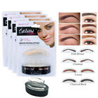 Kyпить Eyebrow Stamp Powder Natural Delicate Shape Eye Makeup Waterproof Mirror Brown на еВаy.соm