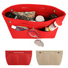 Portable Felt Fabric Purse Handbag Organizer Bag Multi Pocket Insert Large US