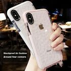 iPhone XS MAX XR X 8 7 Plus Hybrid Shockproof Clear Soft Gel Case Tempered Glass