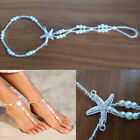 Women Pearl Barefoot Sandals Beach Bracelet Jewelry Anklet Foot Chain Toe Ring