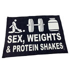 Gym Sweat Microfiber Sports Towel Bodybuilding Funny - Swps D3