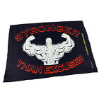 Gym Sweat Microfiber Sports Towel Bodybuilding Funny - Stronger Than Excuses