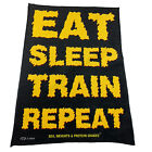 Gym Sweat Microfiber Sports Towel Bodybuilding Funny - Eat Sleep Train Repeat