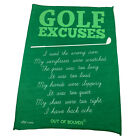Golf Microfiber Sports Towel Funny Novelty Sweat Rag - Golf Excuses