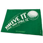 Golf Microfiber Sports Towel Funny Novelty Sweat Rag Drive It Like Your Stole It