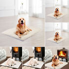 Pet Bed for Dog Cat Crate Mat Soft Warm Pad Liner Home Indoor Outdoor Warmer Bed