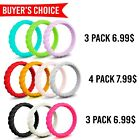 Kyпить  Silicone Wedding Ring Women II Rubber Band Thin Engagement Stackable Flexible на еВаy.соm
