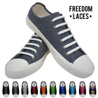 16Pcs No Tie Elastic Silicone Shoe Laces Waterproof Shoelaces Sneakers Runners