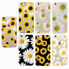 Beautiful Daisy Sunflower Floral Soft Clear Phone Case For iPhone 6 6s 7 8 Plus