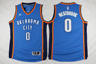 Mens Oklahoma City Thunder 0 Russell Westbrook Basketball jersey Blue S XXL