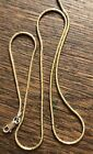 """Designer Marked 925 Italy Vermiel Sterling Silver 18"""" Slinky Chain Necklace 7.3G"""