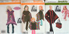 LOT of 3 PATTY REED Patterns  GIRL's DRES, GIRL & MISSES PONCHO & PONCHO HAT BAG