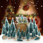 43Pcs Artificial Mini Christmas Tree Home Desktop Decor Miniature Xmas Trees US