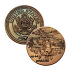 US Military Army AH-64 Apache Attack Helicoper Challenge Coin Collectible Gift