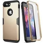 For Seven / 7 PLUS Case iPhone Cover Full Body Protection Screen Protector Gold