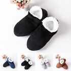 Men Plush House Slippers Winter Warm Indoor Casual Ankle Boots Shoes Size 8.5-10