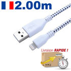USB CHARGER CABLE BRAIDED DATA SYNCRO FOR IPHONE 6 5C 5S X XS MAX IPOD IPAD 6 7/