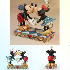 Disney Traditions by Jim Shore Mickey Mouse Kissing Minnie Stone Resin Figuri...