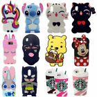 3D Cartoon Soft Silicone Rubber Kids Case Cover For Samsung iPhone 5S XS/XS MAX