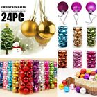 24pcs Christmas Xmas Tree Ball Bauble Home Party Ornament Hanging Decor 30mm X-9