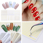 Christmas 3D Nail Stickers Lines Strip Adhesive Transfer Sticker Tips Decoration