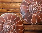 Set of 2 Amazing Moroccan pouf Dark Brown color,Best offer,Ottomans Poffes,Foots