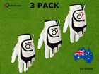 Men's Golf Gloves 3 Pack Left Right Handed Cabretta Leather S M L XL All Weather