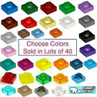 Lego 1x1 Plate Plates Red Green Blue White Trans Yellow Black U Pick Colors X40