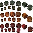 Wooden Ear Plug Drum Flesh Tunnel Exotic Wood Jewellery Double Flared 6mm - 22mm