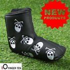 Golf Putter Cover Waterproof PU Leather Leaf Skull Club Mallet Head Covers Ideal