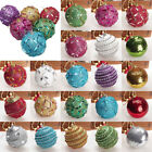 Внешний вид - Christmas Rhinestone Glitter Baubles Balls Xmas Tree Ornament Decoration 80MM