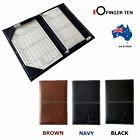 Golf Scorecard Holder with 2 Score Sheets Deluxe PU Leather Yardage Book Cover