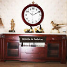 Wine Red Clock Classic 12 Atomic Radio Controlled Wall Clock BGW612-YG DF
