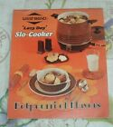 1973 WEST BEND 'LAZY DAY' SLO-COOKER Potpourri of Flavors COOK BOOK 24 Pg Slow