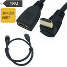 HDMI 90 degree Male Up Angle TO Female Coupler Extender Adapter Connector Cable