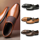 Men Formal Dress PU  Wedding  Casual Leather Shoes Business  Pointy Fashion