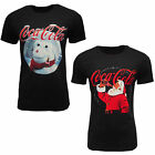 Coca Cola Mens Ladies Unisex Christmas Cotton Black Printed T-shirt Crew Neck £5.99  on eBay