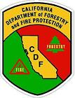California Dept. Of Forestry Fire Protection Reflective Decal Firefighter Ems