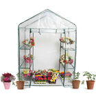 Small/Large Size Outdoor Walk in Greenhouse PVC Plastic Garden Grow Green House